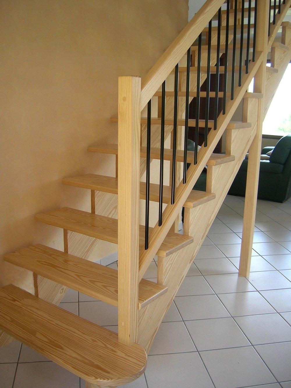Fabrication escaliers bois crémaillère